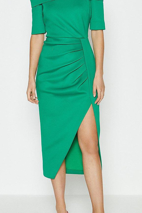 COAST Scuba Wrap Hem Midi Dress (RARE & COLLECTABLE)