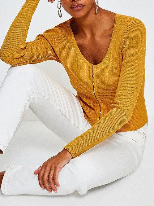 KAREN MILLEN V-Neck Button Through Cardigan(RARE & COLLECTABLE)