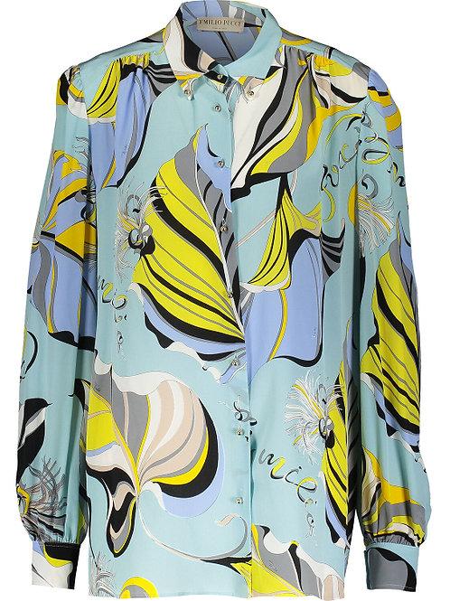 EMILIO PUCCI Fluid Pattern Camicia Silk Shirt(RARE & COLLECTABLE)