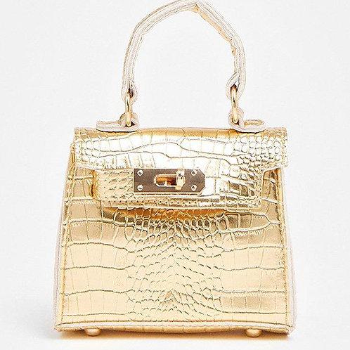 COAST Gold Croc Mini Grab Bag