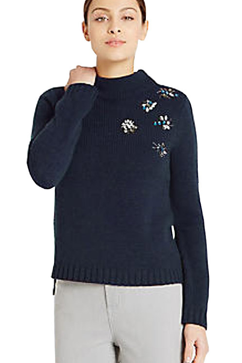 MARKS & SPENCER by PER UNA Embellished Beaded Bug Jumper T38/6670