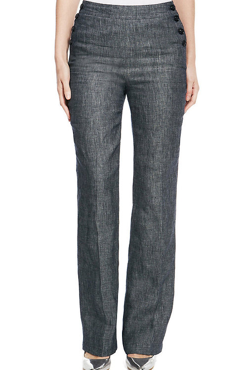 M&S COLLECTION Pure Linen Straight Leg Trousers T57/9250