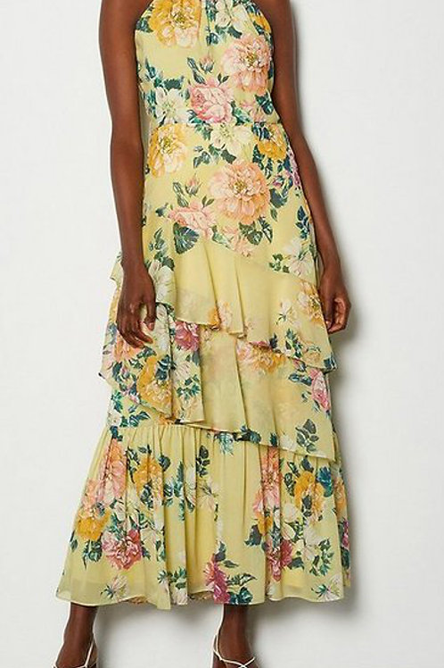 KAREN MILLEN High Neck Print Dress (RARE & COLLECTABLE)