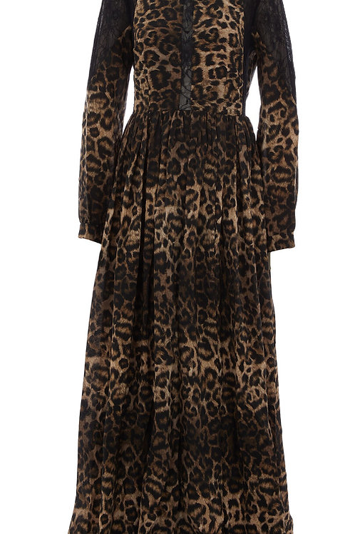 JOHN RICHMOND Animal Print & Lace Dress  (RARE & COLLECTABLE)