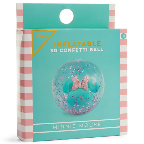 PRIMARK Official Disney Inflatable 3D Confetti Minnie Mouse Beach Ball
