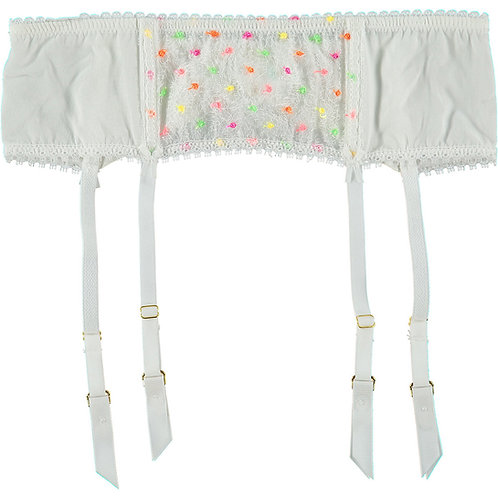 Mimi Holliday Parakeet Lace and Silk Suspender (RARE & COLLECTABLE)