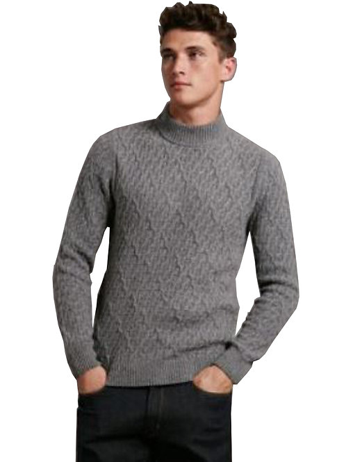 MARKS & SPENCER by AUTOGRAPH Wool Rich Textured Long Sleeve Slim Fit Jumper