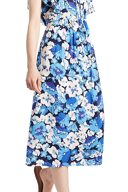 MARKS & SPENCER LIMITED EDITION Floral Print Frill Sleeve Swing Midi Dress T42/5