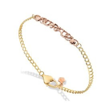 Clogau Gold 9ct Yellow & Rose Gold Cariad Bracelet (RARE & COLLECTABLE)