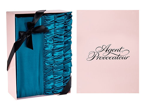 AGENT PROVOCATEUR Silk Kingfisher Ruffles Housewife Pillowcase (RARE & COLLECTAB