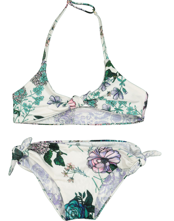 VERSACE Multicoloured Botanical Bikini S