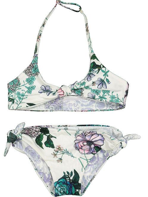 YOUNG VERSACE Multicoloured Botanical Bikini Set (RARE & COLLECTABLE)