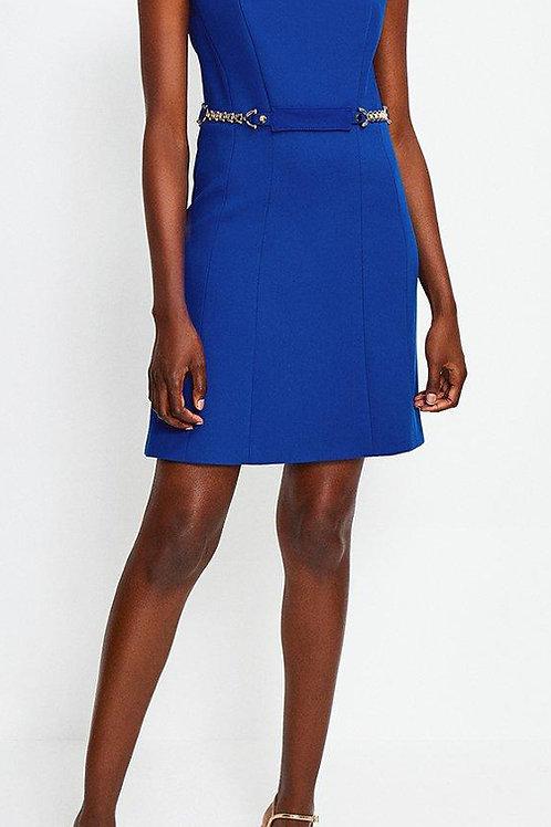 KAREN MILLEN Chain Belt A-Line Dress (RARE & COLLECTABLE)