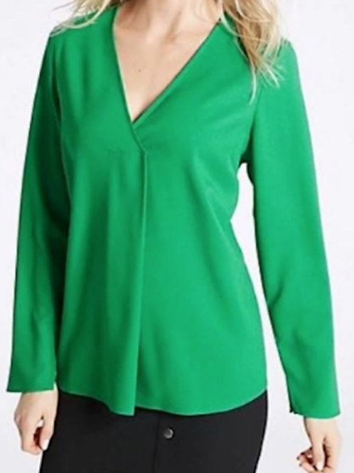 M&S Collection V-Neck Long Sleeve Blouse T43/3714