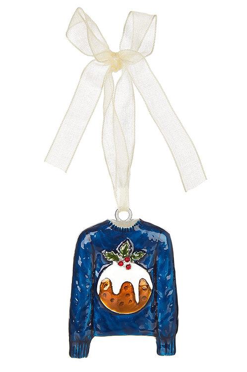 MONSOON Pudding Christmas Jumper Decoration