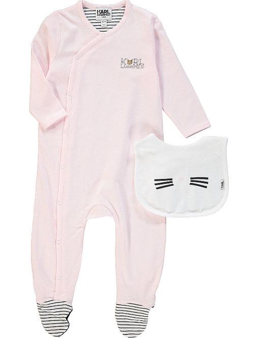 KARL LAGERFELD Sleepsuit & Cat Bib Set(RARE & COLLECTABLE)