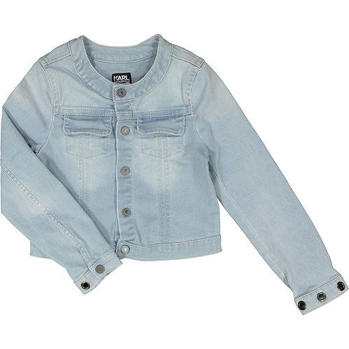 KARL LAGERFELD Girls Light Blue Denim Jacket (RARE & COLLECTABLE)