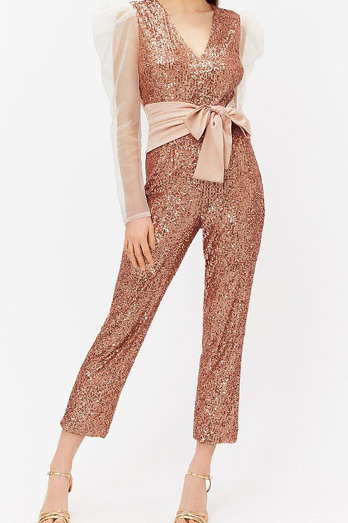COAST Sequin & Satin Waistband Jumpsuit (RARE & COLLECTABLE)