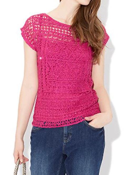 MONSOON Yasmina Machine Crochet Top