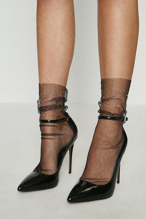 COAST Diamante Sheer Socks