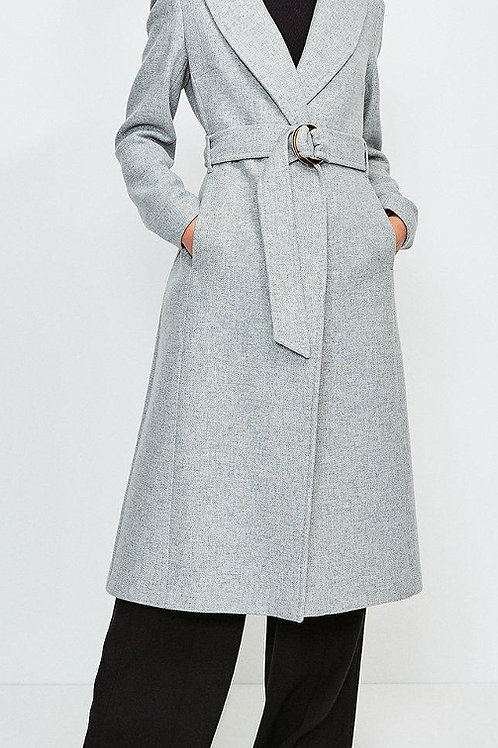 KAREN MILLEN Ring Belted Classic Wool Coat (RARE & COLLECTABLE)