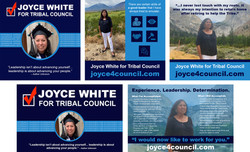 Joyce White for Bishop Paiute Tribal Council Campaign Assets - Phase 1