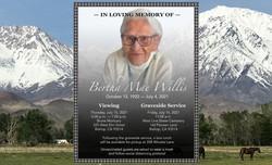 Bertha Mae Willis Passing Announcement