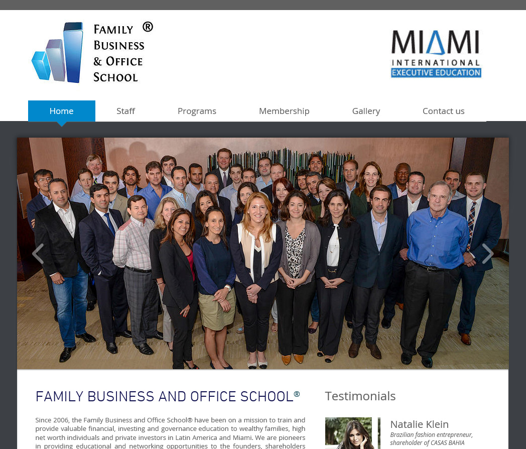 Miami School web