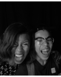 Scream Booth with my son
