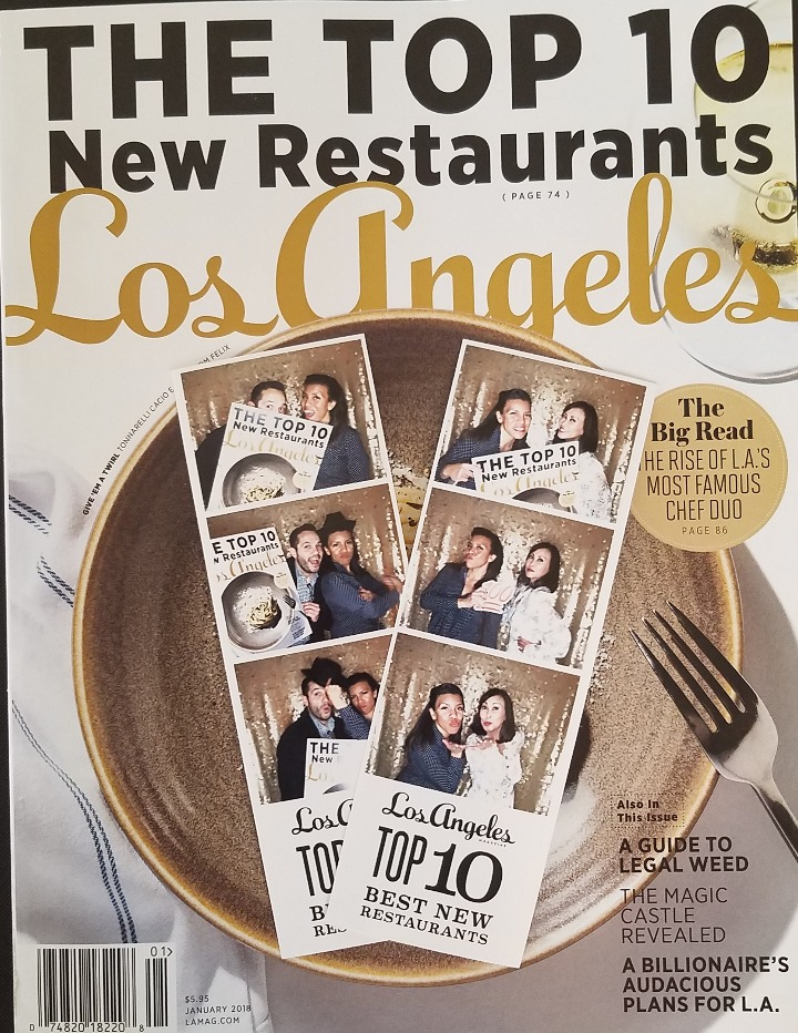 photo booth pics & LA Magazine