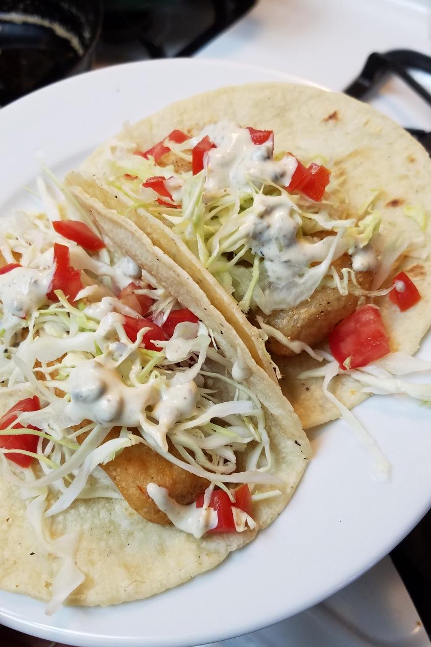 Tilapia Beer battered Tacos