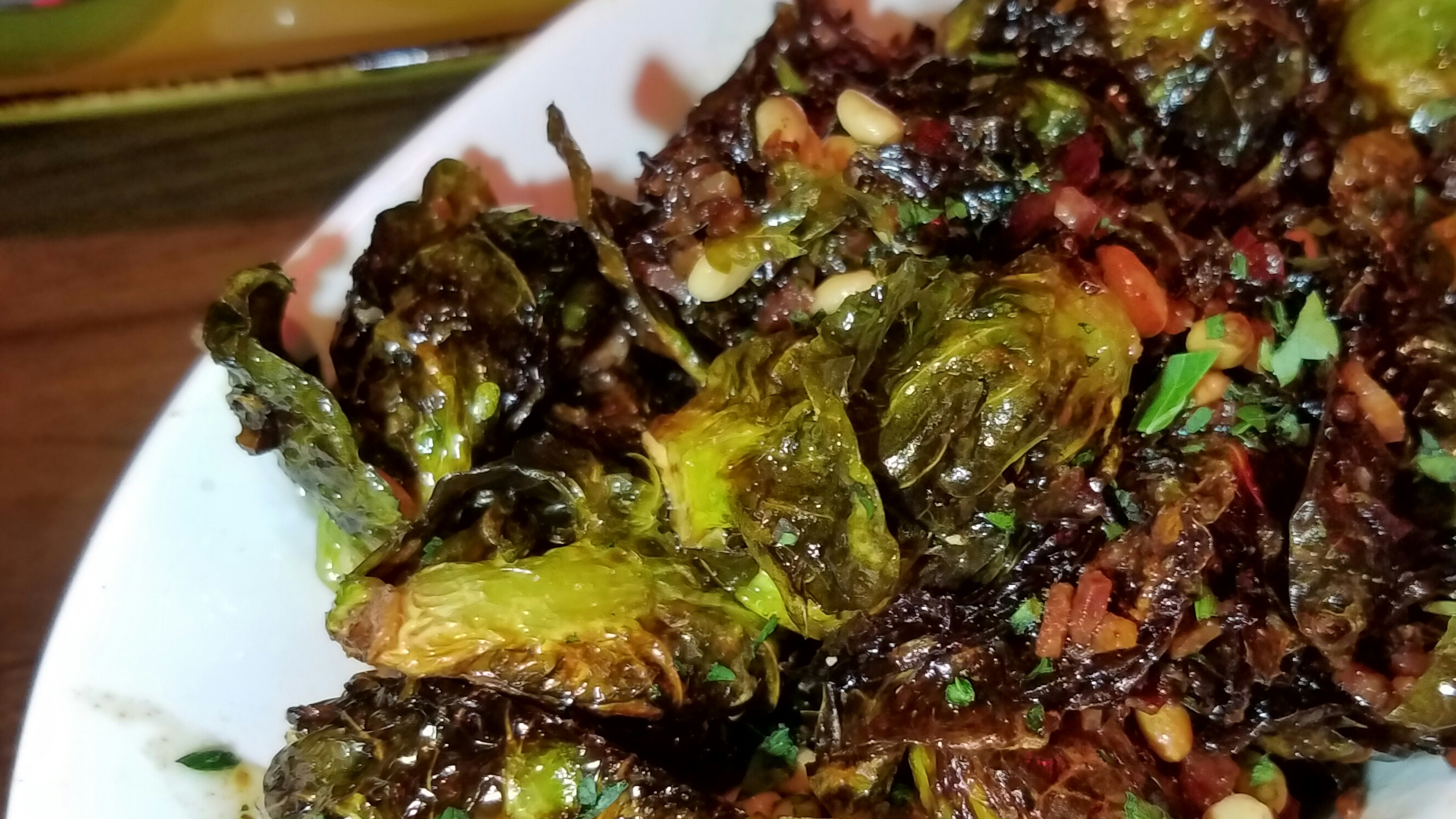 charred sprouts