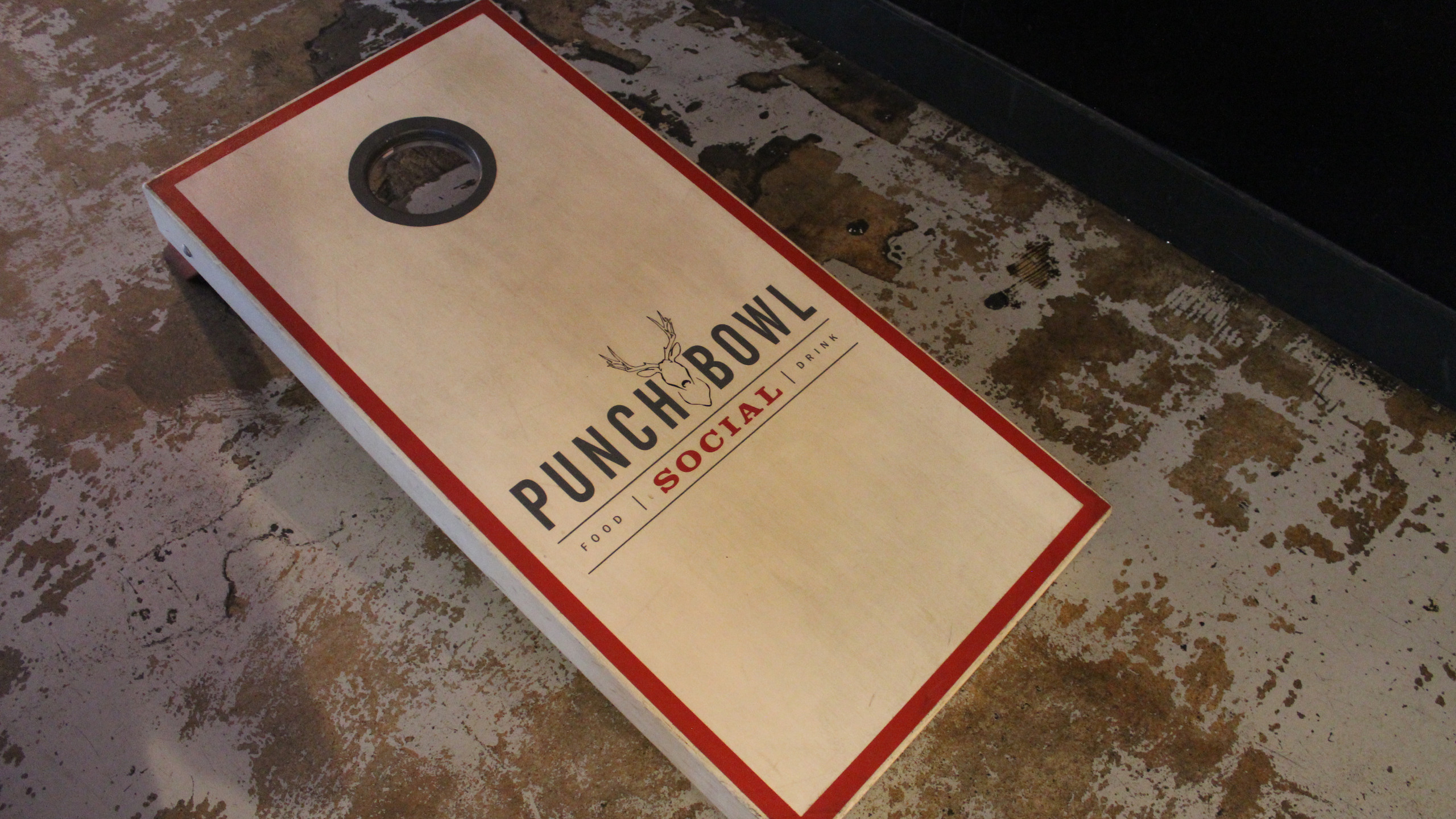 Punch Bowl Social corn hole
