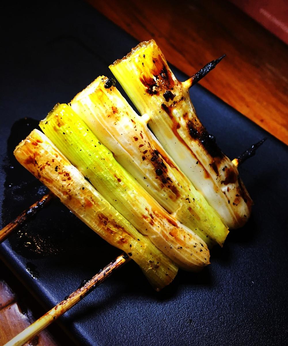 Nigiri Shoyu painted grilled green onion
