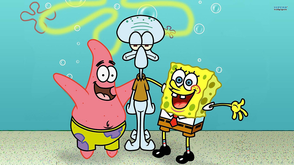 Patrick, Squidward & Spongebob