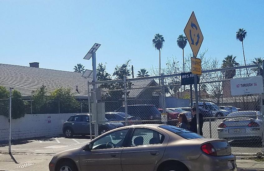 reserved parking at Mr. Holmes LA