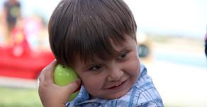 Newport Dunes waterfront resort hosts auditory Easter Egg Hunt for blind children's Learning cen