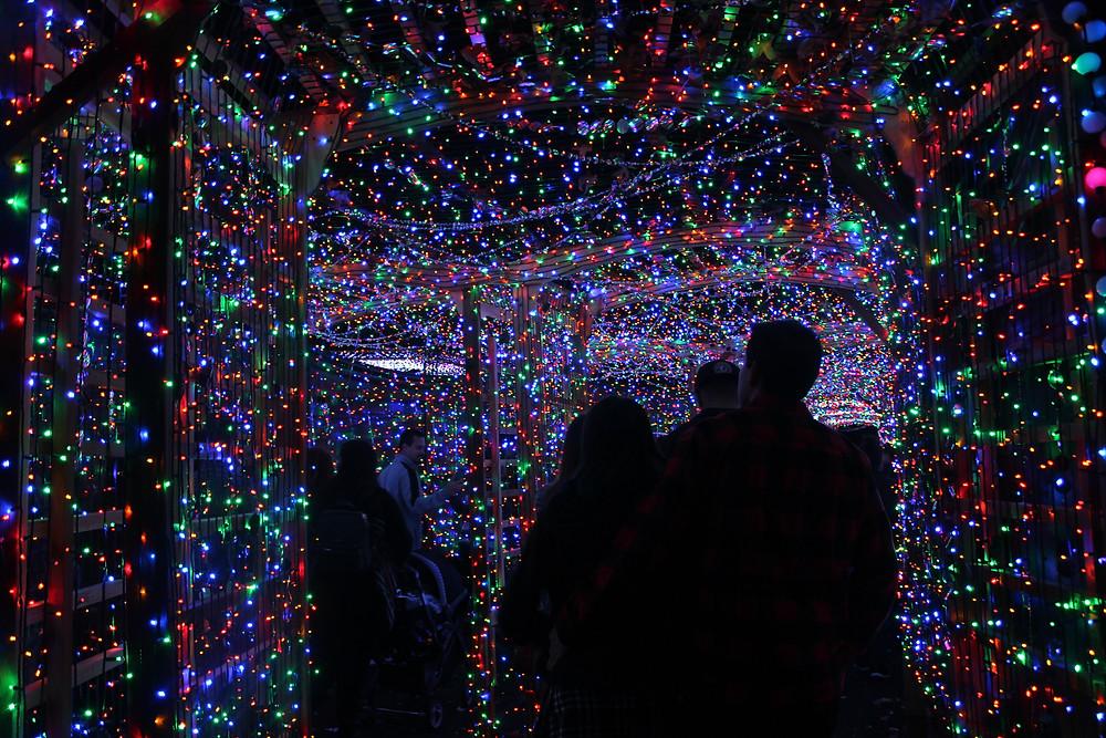 Glittering Light Tunnel