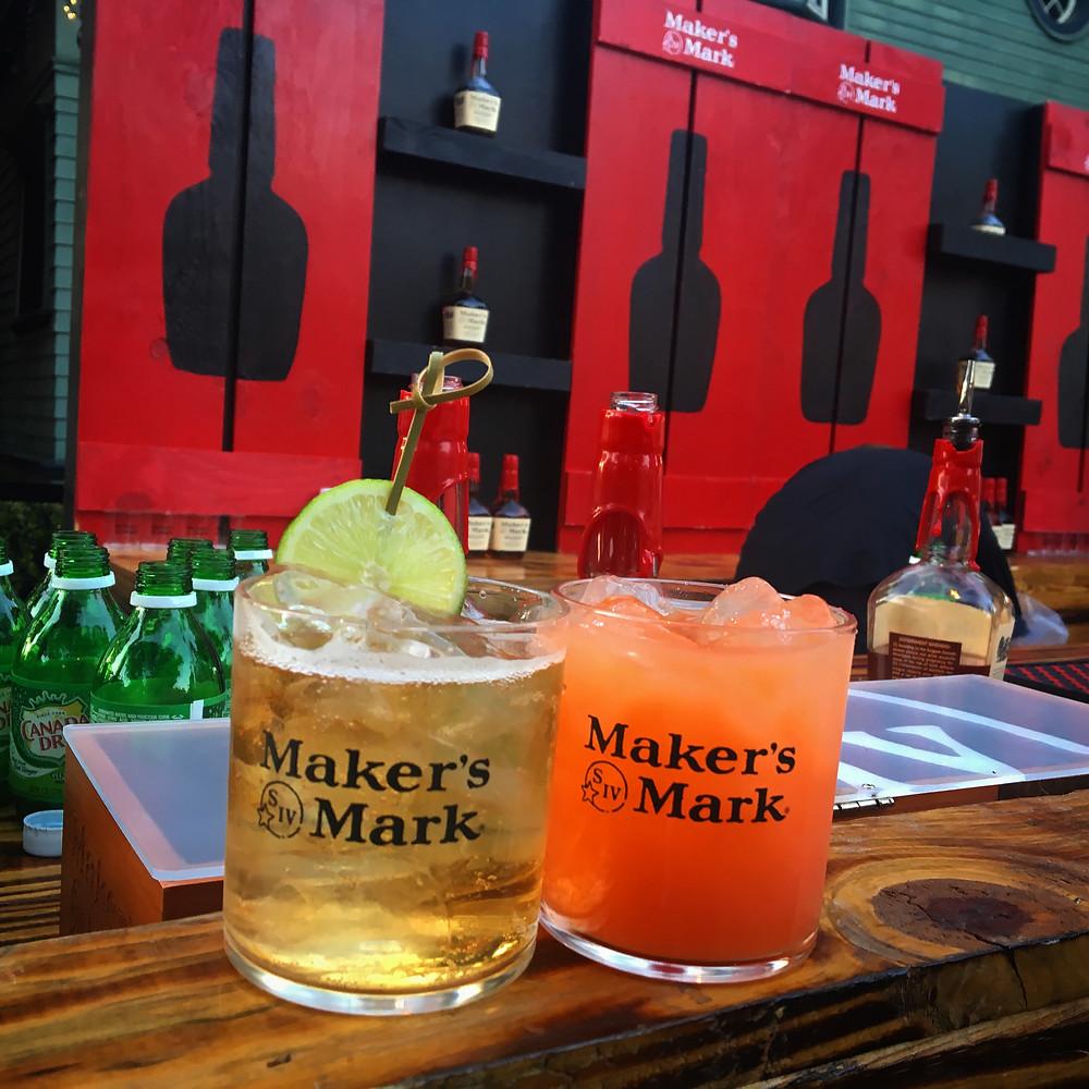 """L-R: Maker's Mark and ginger"""". """"Summer Mash up"""""""