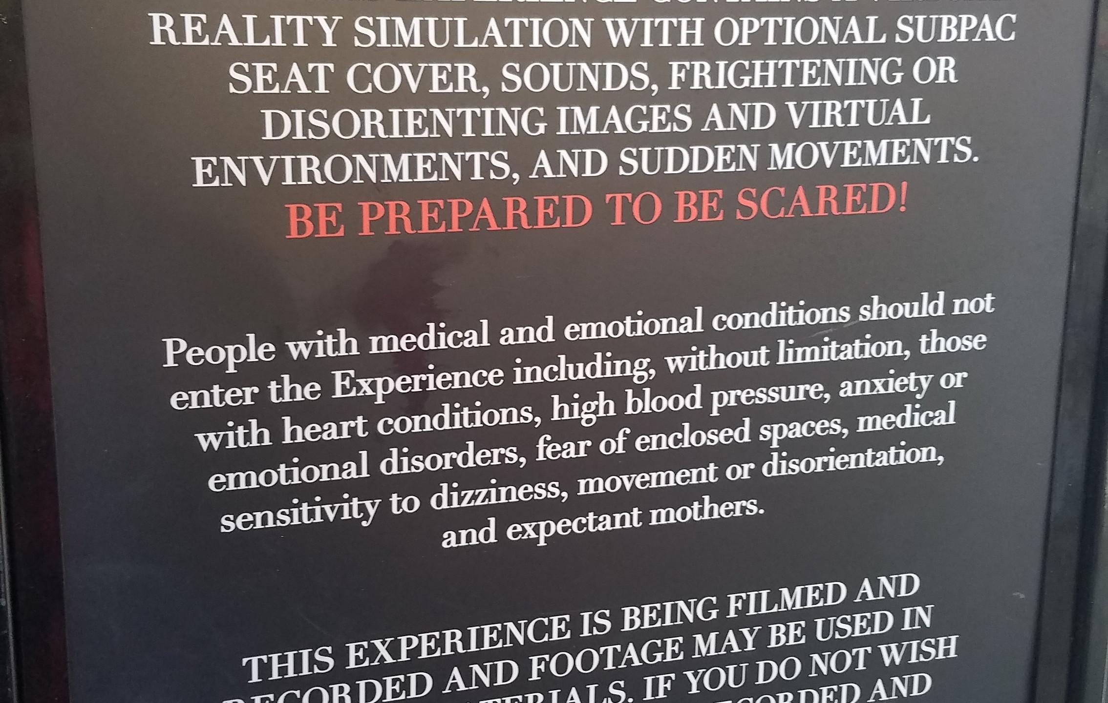 Description of experience