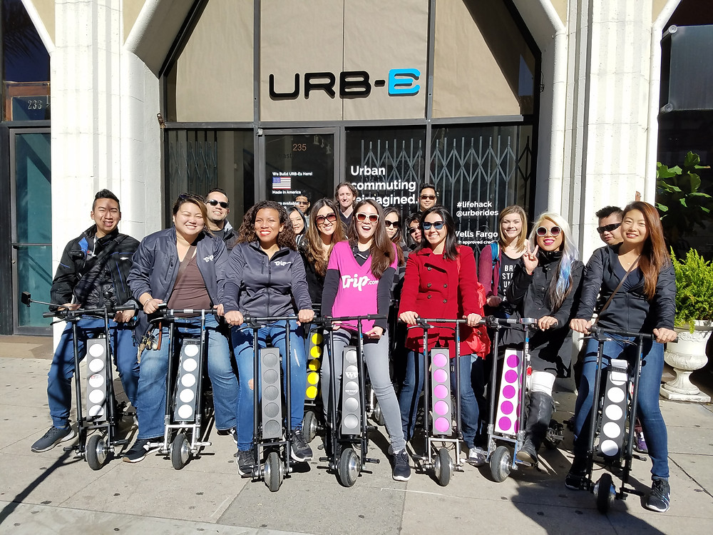 URB-E test driving group