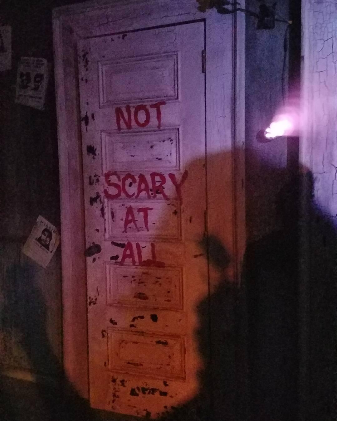 Not scary door.  What's behind?