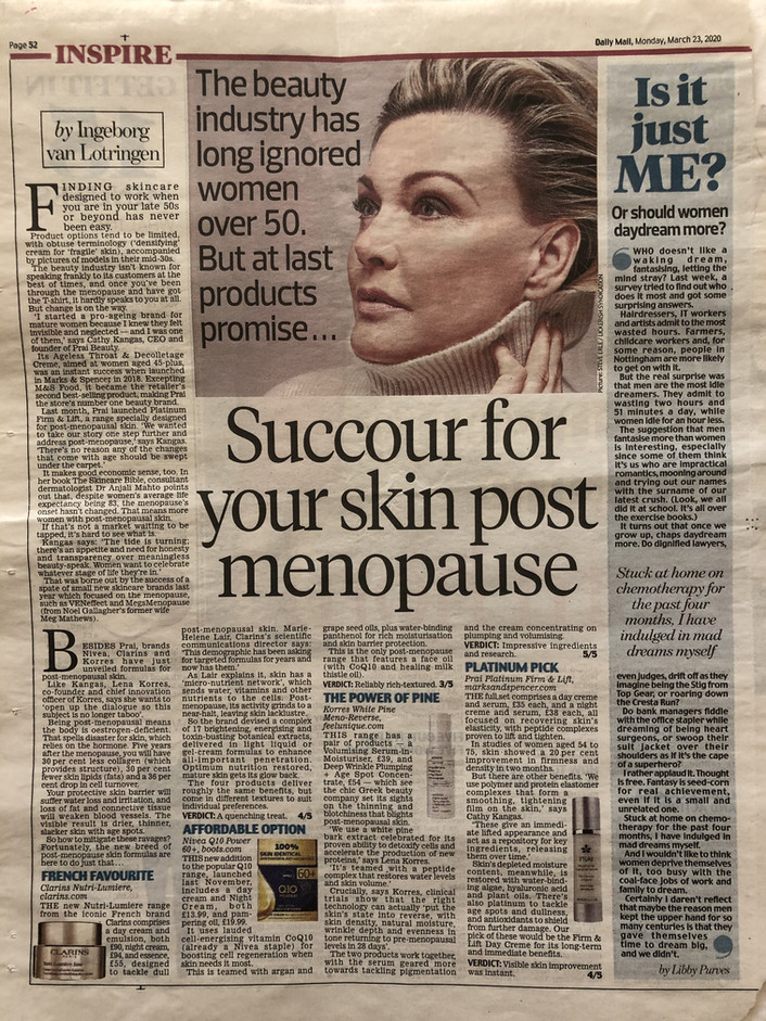 Succour for your skin post menopause