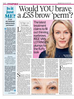 Would YOU brave a £55 brow 'perm'?