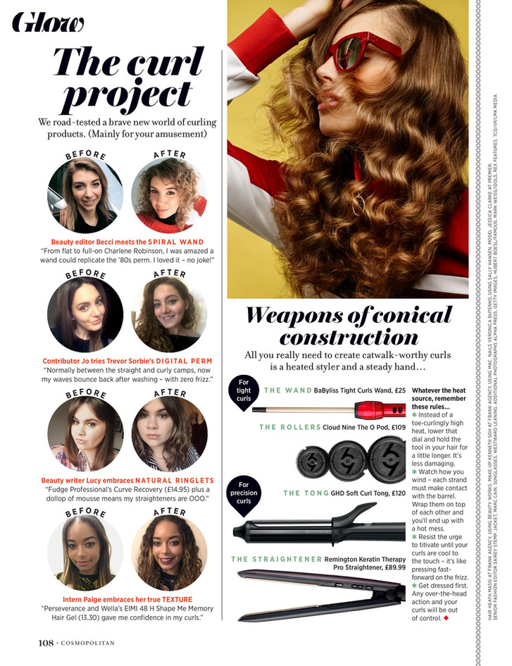 Curls allowed – Cosmopolitan