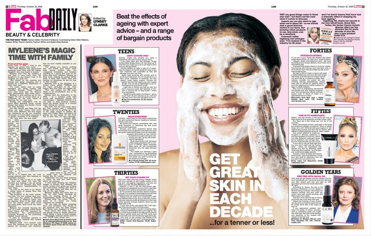 Get great skin each decade