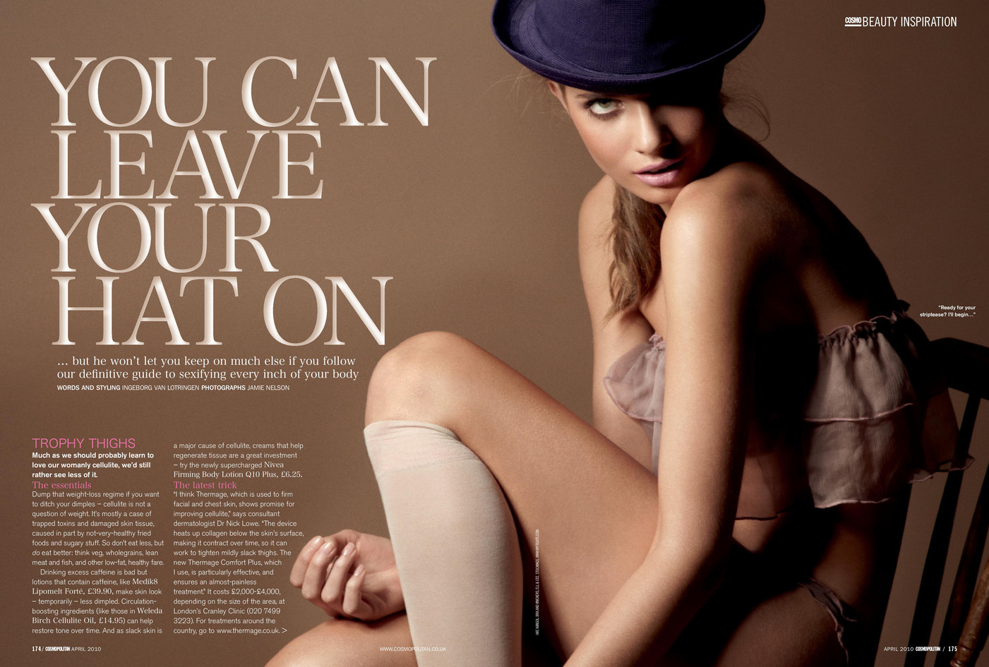 You can leave your hat on – Cosmopolitan
