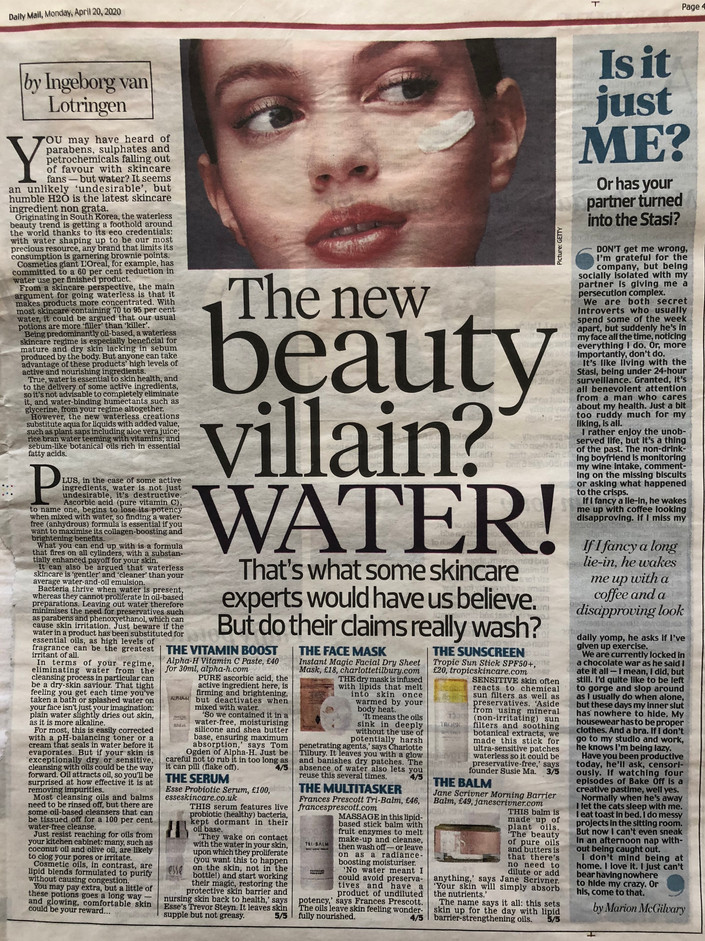 The new beauty villain? Water!