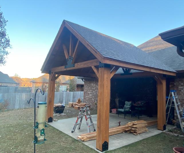 Rough Cut Timber Framed Cabana