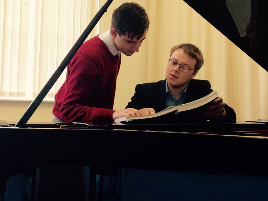 Studying scores with Joseph Hearson